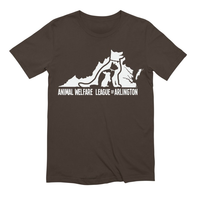 AWLA Virginia State - WHITE Men's T-Shirt by Animal Welfare League of Arlington Shop