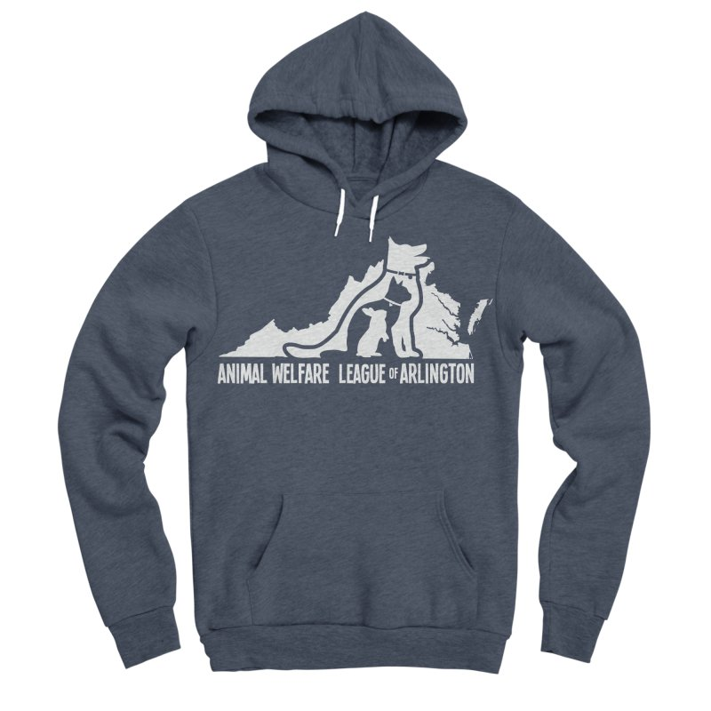 AWLA Virginia State - WHITE Women's Sponge Fleece Pullover Hoody by Animal Welfare League of Arlington Shop