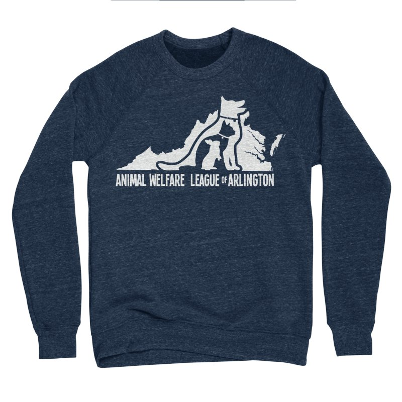 AWLA Virginia State - WHITE Men's Sponge Fleece Sweatshirt by Animal Welfare League of Arlington Shop