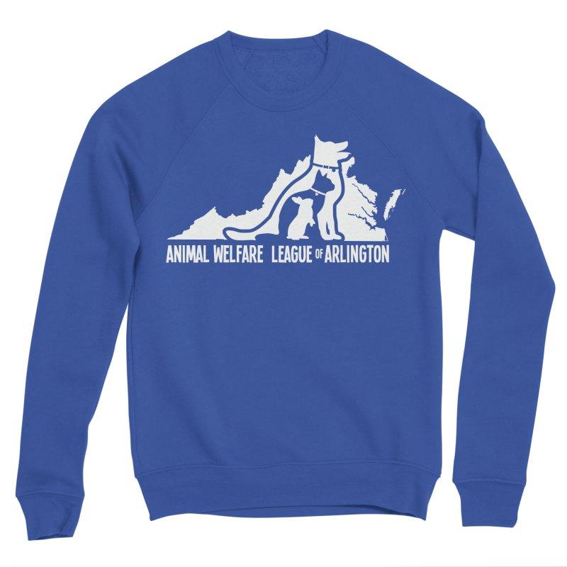 AWLA Virginia State - WHITE Men's Sponge Fleece Sweatshirt by Animal Welfare League of Arlington Shop