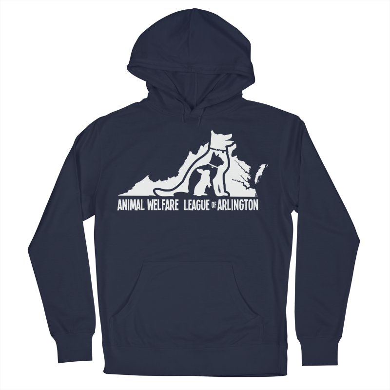AWLA Virginia State - WHITE Women's French Terry Pullover Hoody by Animal Welfare League of Arlington Shop