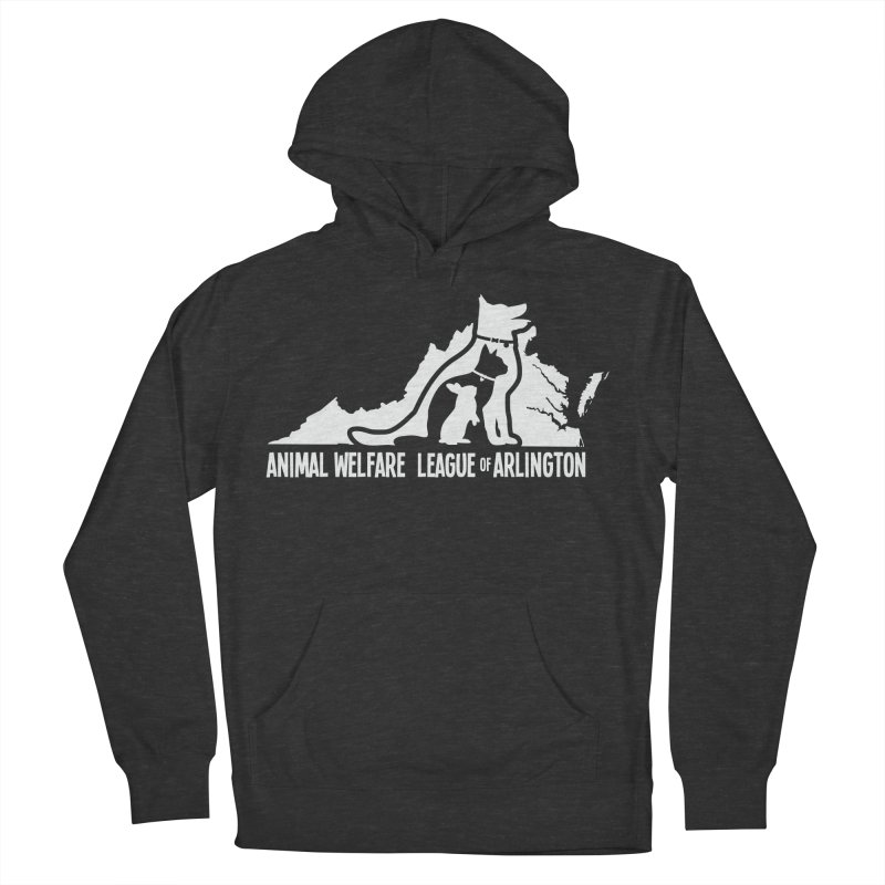 AWLA Virginia State - WHITE Men's French Terry Pullover Hoody by Animal Welfare League of Arlington Shop