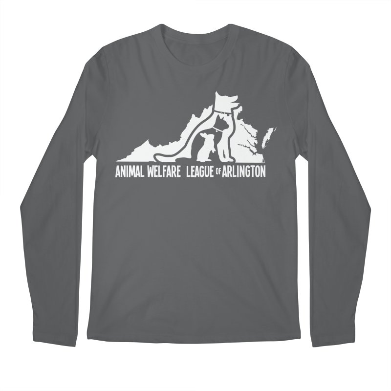 AWLA Virginia State - WHITE Men's Regular Longsleeve T-Shirt by Animal Welfare League of Arlington Shop