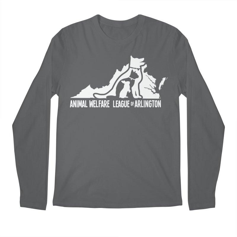 AWLA Virginia State - WHITE Men's Longsleeve T-Shirt by Animal Welfare League of Arlington Shop