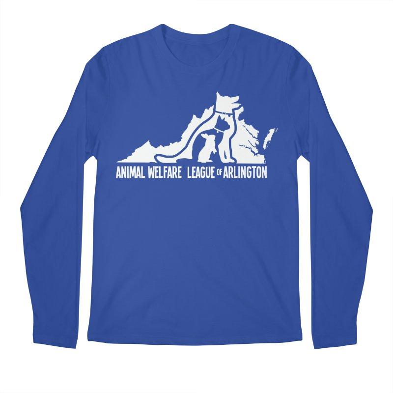 AWLA Virginia State - WHITE Men's Regular Longsleeve T-Shirt by Animal Welfare League of Arlington Shop