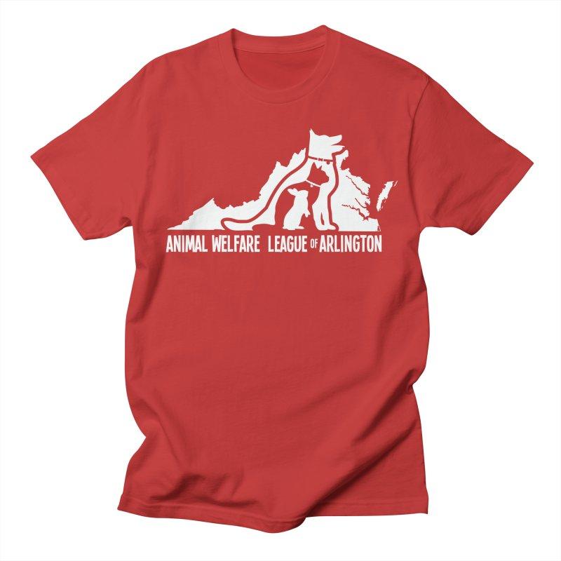 AWLA Virginia State - WHITE Men's Regular T-Shirt by Animal Welfare League of Arlington Shop