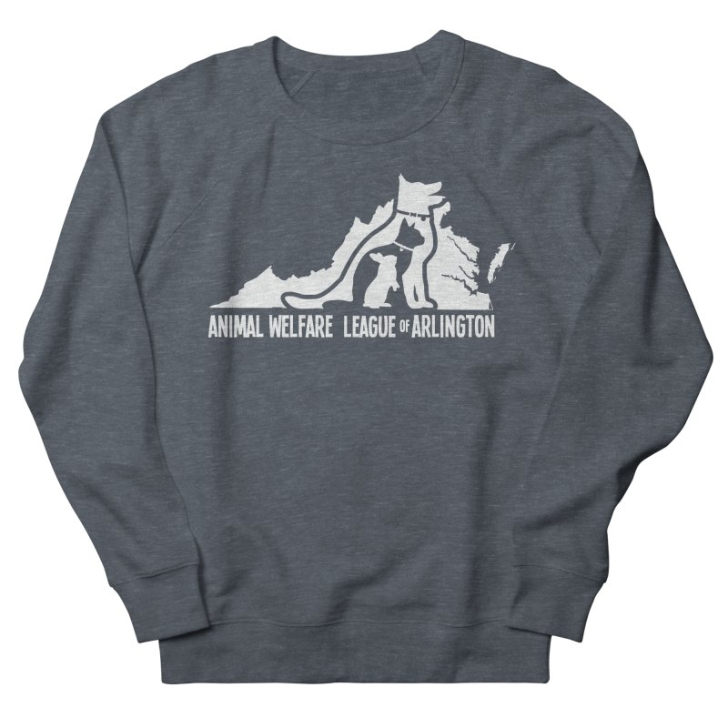 AWLA Virginia State - WHITE Men's French Terry Sweatshirt by Animal Welfare League of Arlington Shop