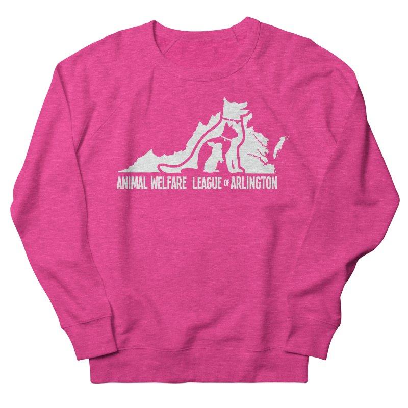 AWLA Virginia State - WHITE Men's French Terry Sweatshirt by Animal Welfare League of Arlington Shop