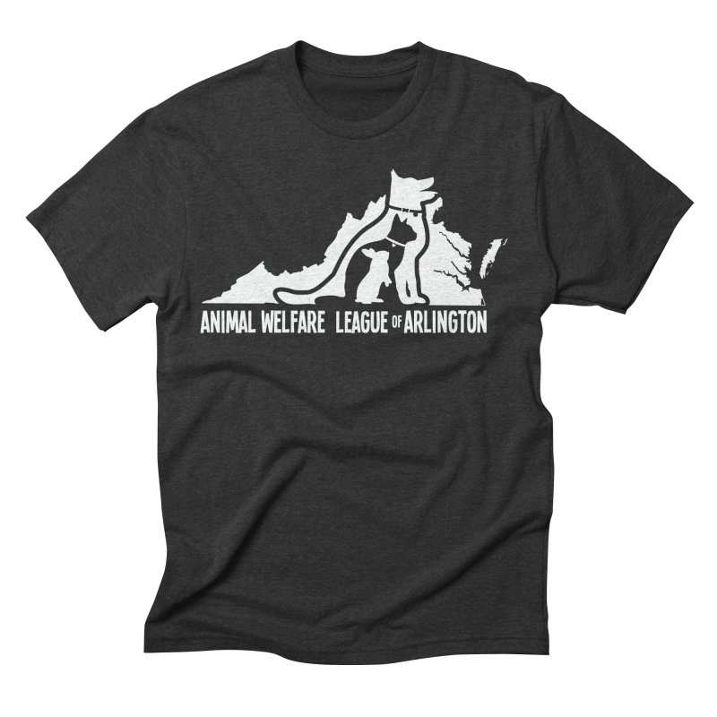 AWLA Virginia State - WHITE Men's Triblend T-Shirt by Animal Welfare League of Arlington Shop