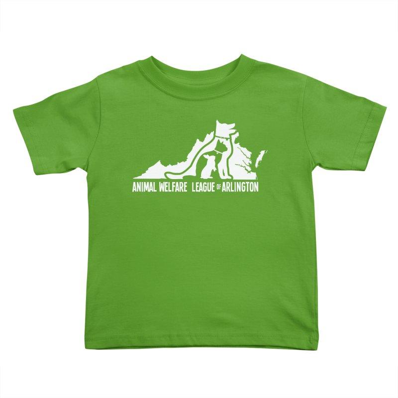 AWLA Virginia State - WHITE Kids Toddler T-Shirt by Animal Welfare League of Arlington Shop