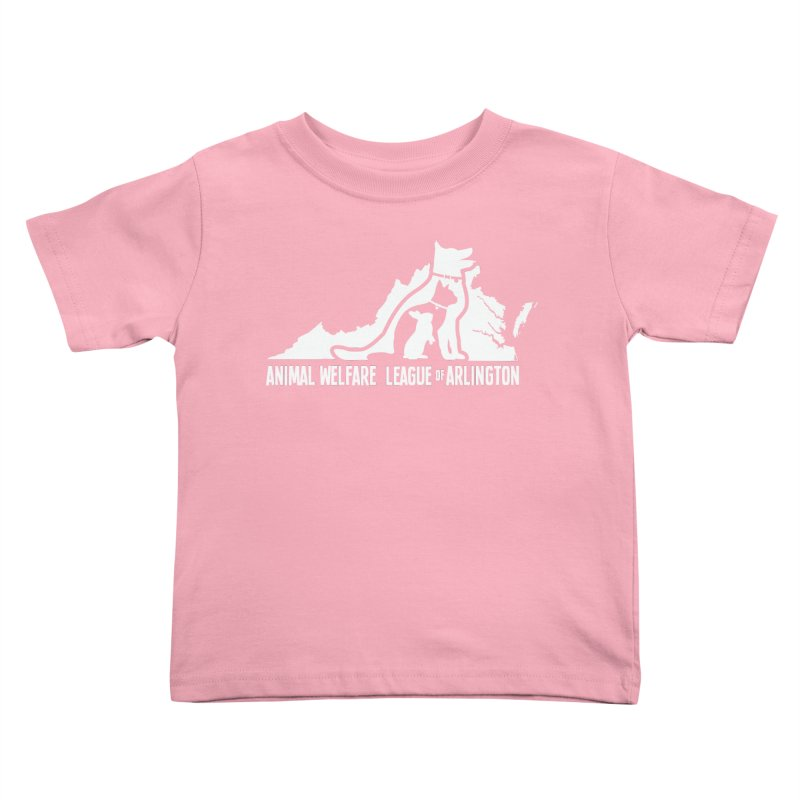 AWLA Virginia State - WHITE Kids Toddler T-Shirt by Animal Welfare League of Arlington Shop