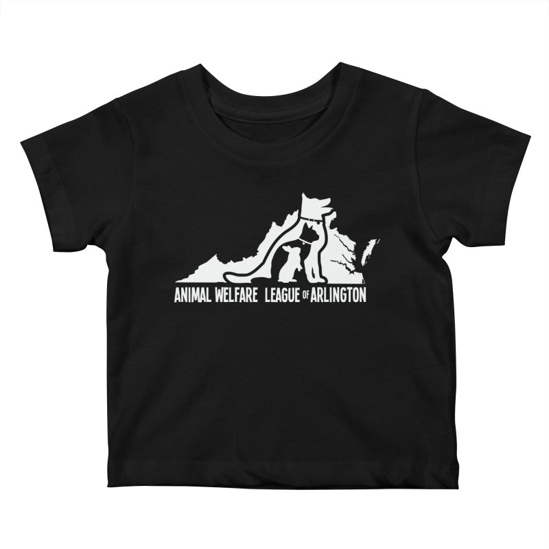 AWLA Virginia State - WHITE Kids Baby T-Shirt by Animal Welfare League of Arlington Shop