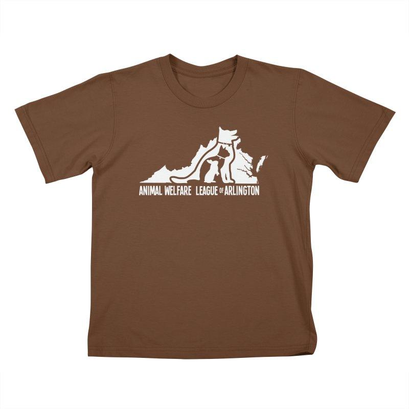AWLA Virginia State - WHITE Kids T-Shirt by Animal Welfare League of Arlington Shop