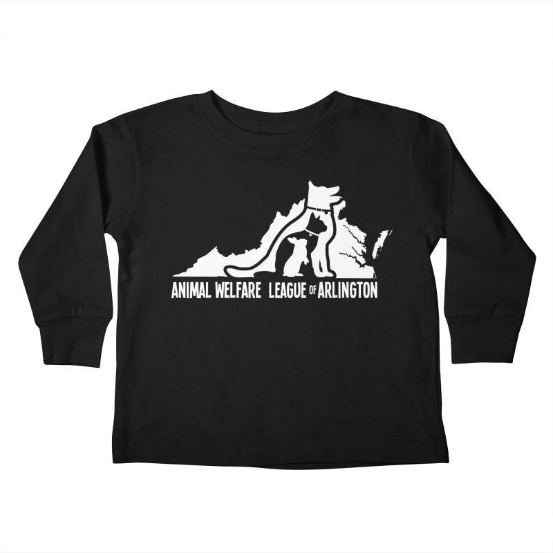 AWLA Virginia State - WHITE Kids Toddler Longsleeve T-Shirt by Animal Welfare League of Arlington Shop
