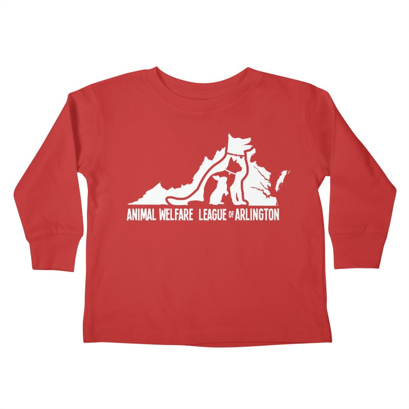 AWLA Virginia State - WHITE Kids Toddler Longsleeve T-Shirt by Animal Welfare League of Arlington Shop