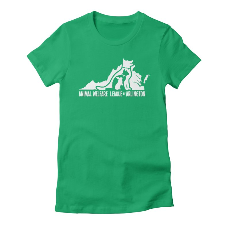 AWLA Virginia State - WHITE Women's Fitted T-Shirt by Animal Welfare League of Arlington Shop