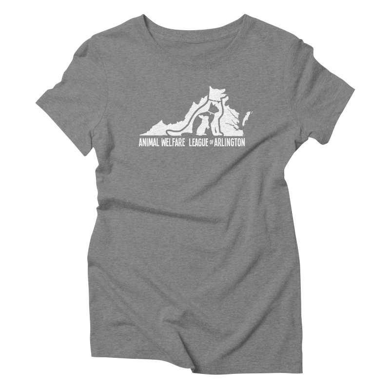 AWLA Virginia State - WHITE Women's Triblend T-Shirt by Animal Welfare League of Arlington Shop