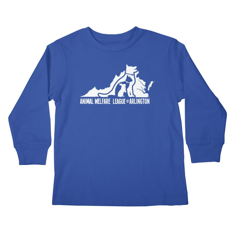 AWLA Virginia State - WHITE Kids Longsleeve T-Shirt by Animal Welfare League of Arlington Shop