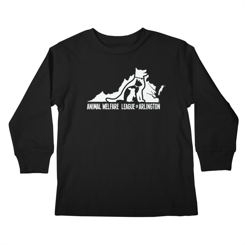 AWLA Virginia State - WHITE Kids Longsleeve T-Shirt by Animal Welfare League of Arlington Shop