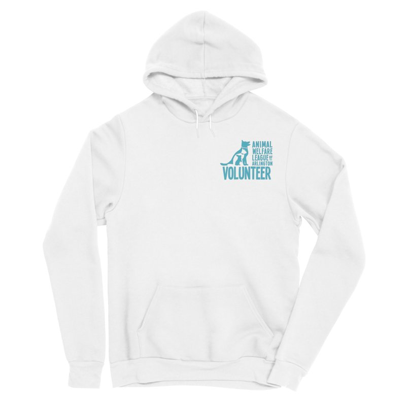 For VOLUNTEERS - blue logo Women's Pullover Hoody by Animal Welfare League of Arlington Shop