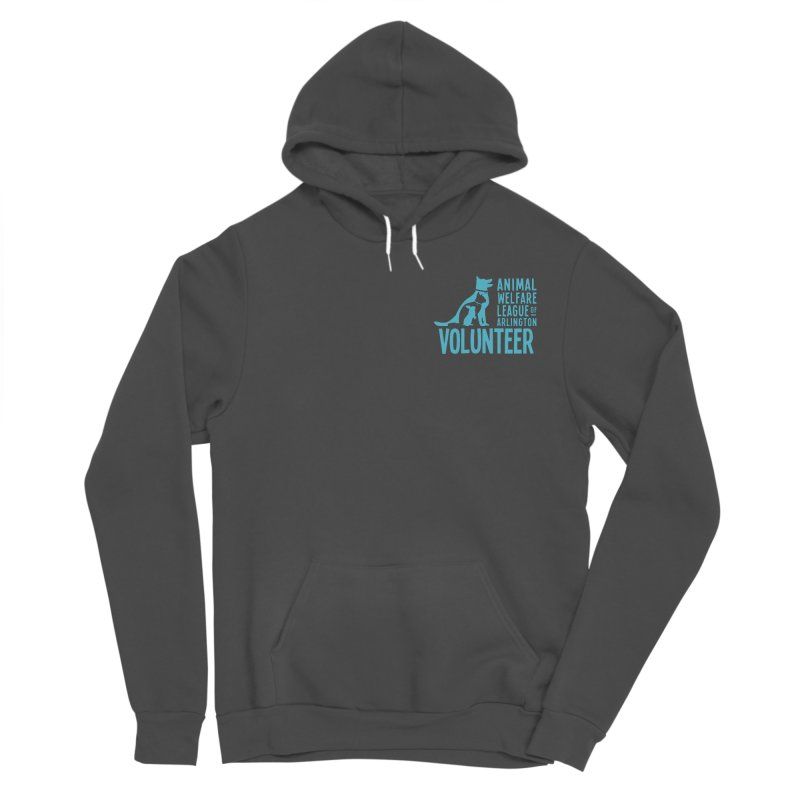 For VOLUNTEERS - blue logo Women's Sponge Fleece Pullover Hoody by Animal Welfare League of Arlington Shop