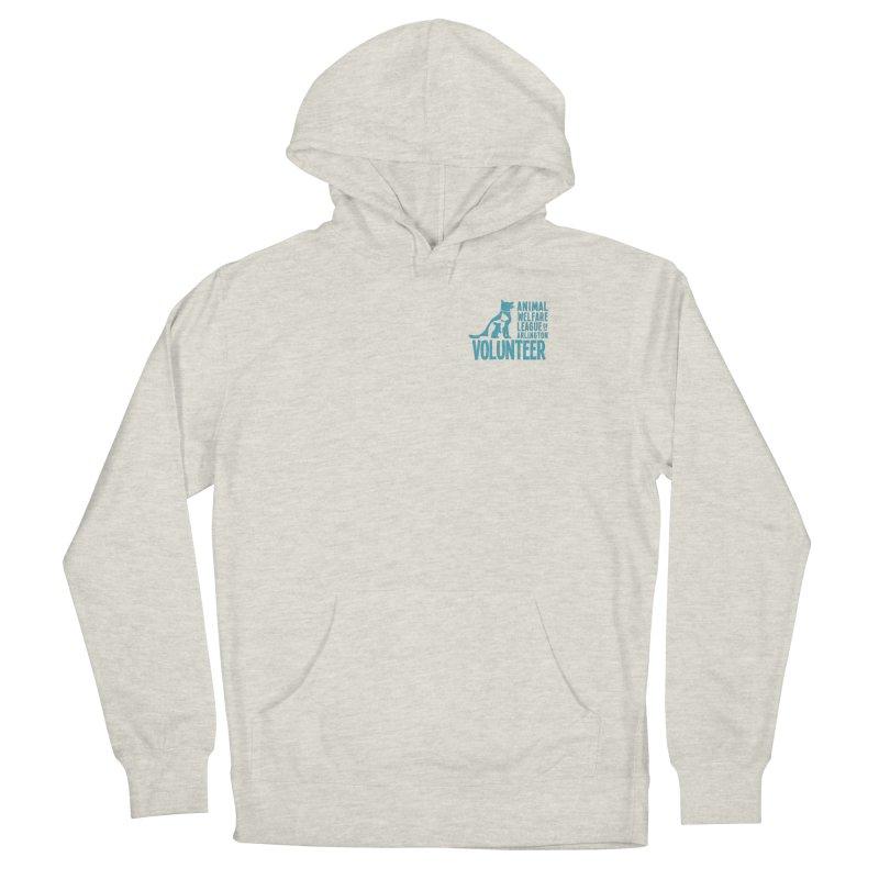 For VOLUNTEERS - blue logo Men's Pullover Hoody by Animal Welfare League of Arlington Shop