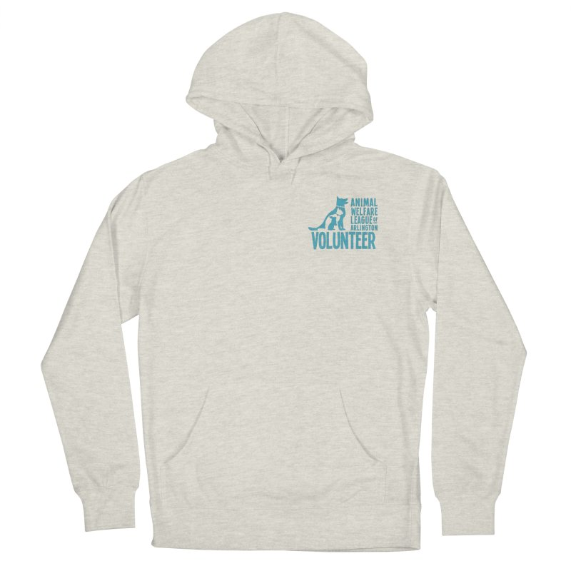 For VOLUNTEERS - blue logo in Men's French Terry Pullover Hoody Heather Oatmeal by Animal Welfare League of Arlington Shop