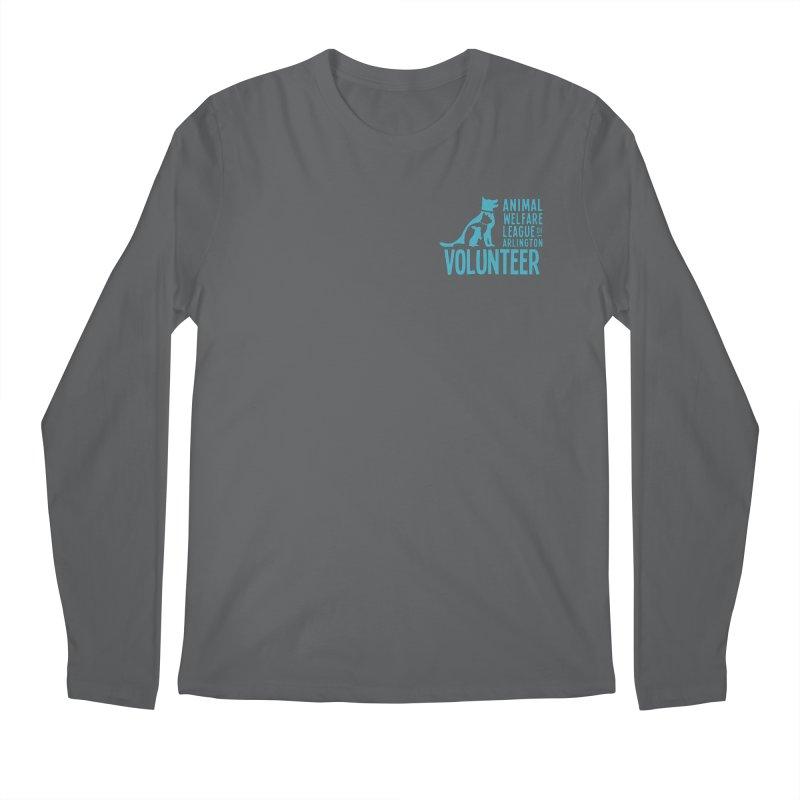 For VOLUNTEERS - blue logo Men's Regular Longsleeve T-Shirt by Animal Welfare League of Arlington Shop