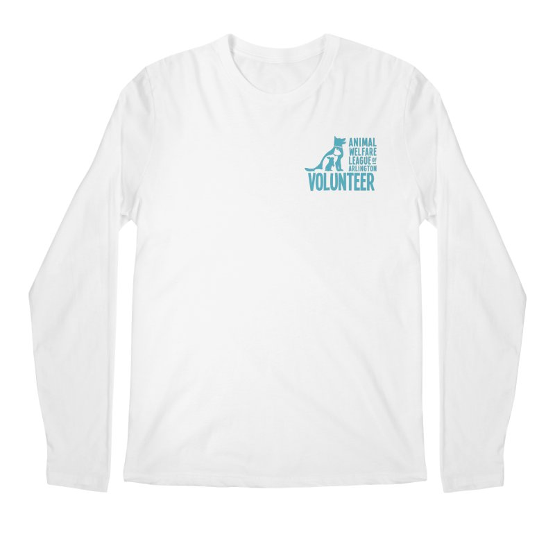 For VOLUNTEERS - blue logo Men's Regular Longsleeve T-Shirt by Animal Welfare League of Arlington Shop