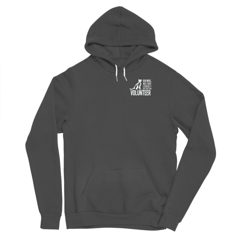 For VOLUNTEERS - white logo Men's Sponge Fleece Pullover Hoody by Animal Welfare League of Arlington Shop