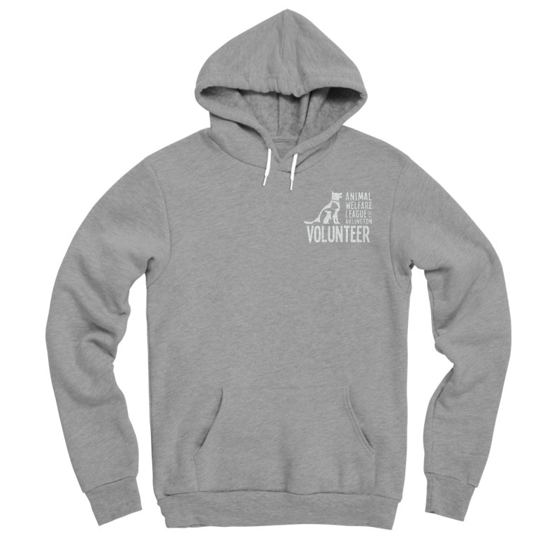 For VOLUNTEERS - white logo Women's Sponge Fleece Pullover Hoody by Animal Welfare League of Arlington Shop