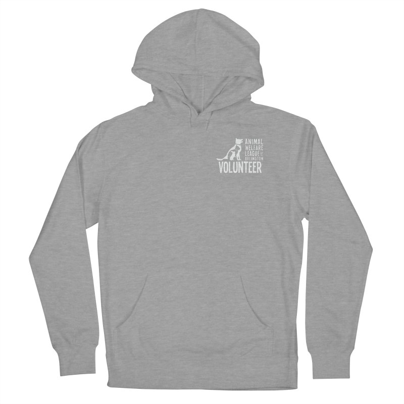 For VOLUNTEERS - white logo Women's French Terry Pullover Hoody by Animal Welfare League of Arlington Shop