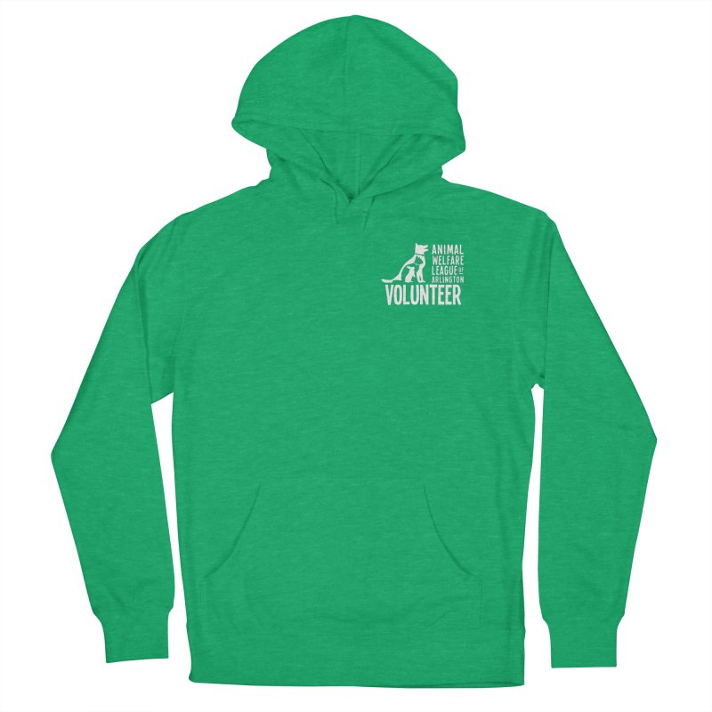 For VOLUNTEERS - white logo Men's French Terry Pullover Hoody by Animal Welfare League of Arlington Shop