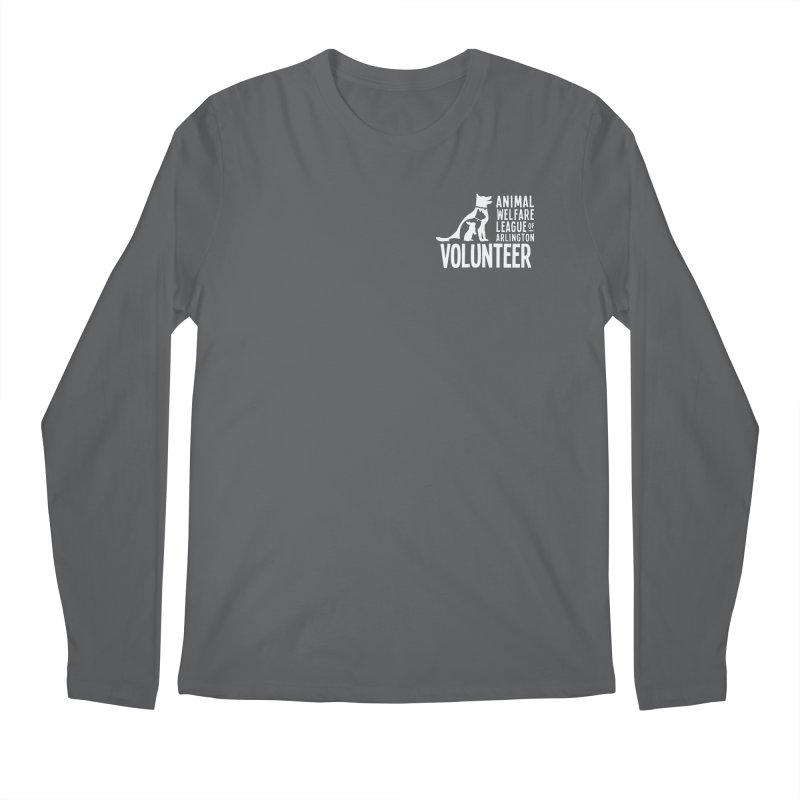 For VOLUNTEERS - white logo Men's Longsleeve T-Shirt by Animal Welfare League of Arlington Shop