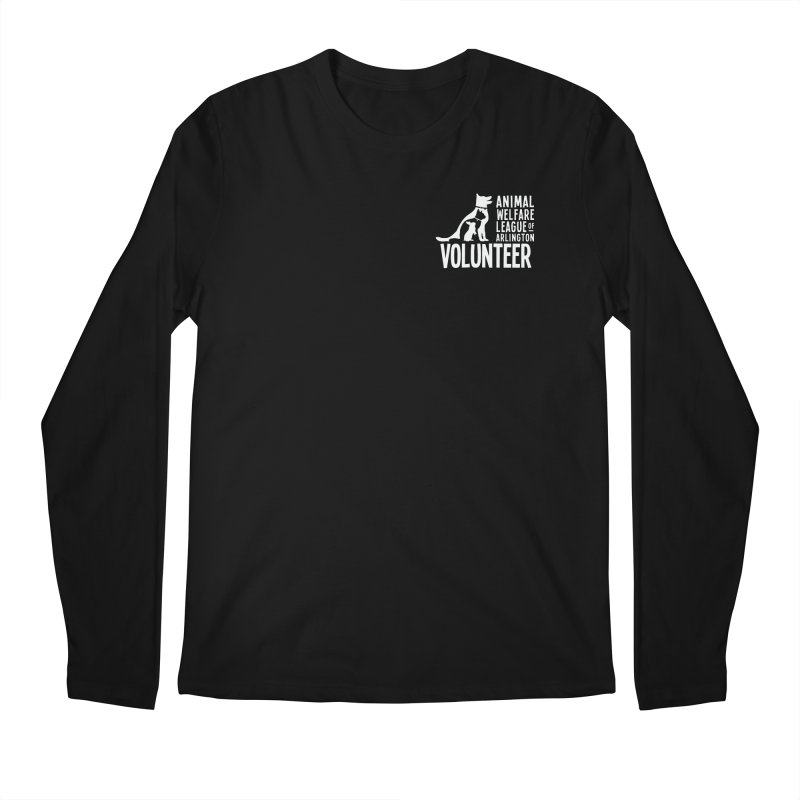 For VOLUNTEERS - white logo Men's Regular Longsleeve T-Shirt by Animal Welfare League of Arlington Shop
