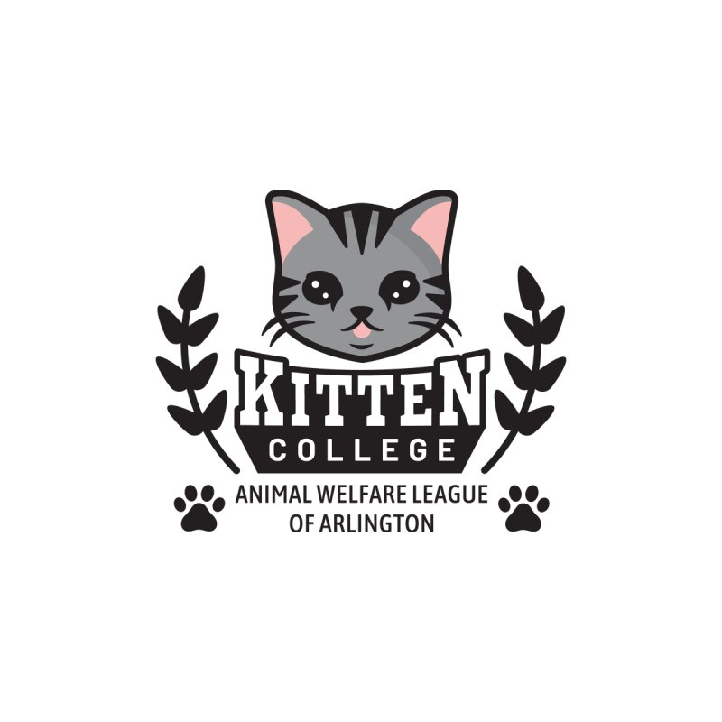 Kitten College - Small Logo & Accessories Men's Longsleeve T-Shirt by Animal Welfare League of Arlington Shop