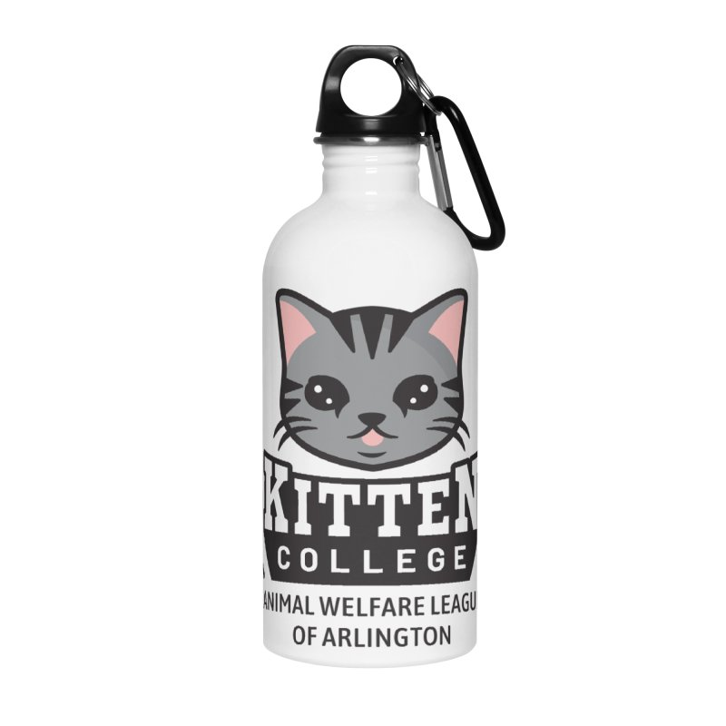 Kitten College - Small Logo & Accessories Accessories Water Bottle by Animal Welfare League of Arlington Shop