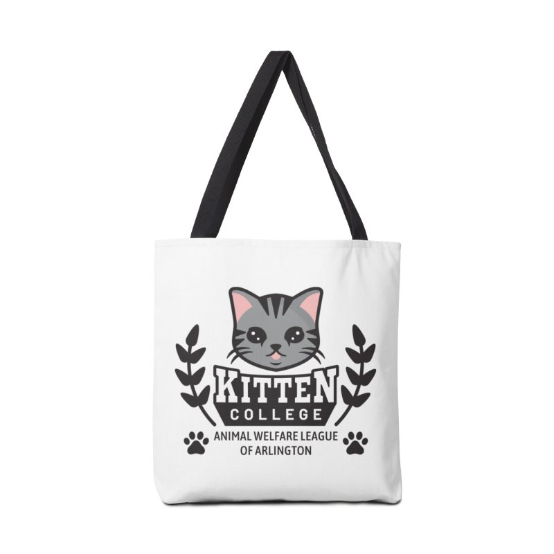 Kitten College - Small Logo & Accessories Accessories Tote Bag Bag by Animal Welfare League of Arlington Shop