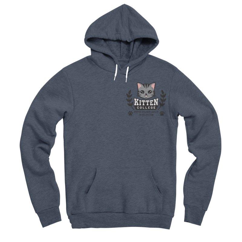 Kitten College - Small Logo & Accessories Women's Sponge Fleece Pullover Hoody by Animal Welfare League of Arlington Shop