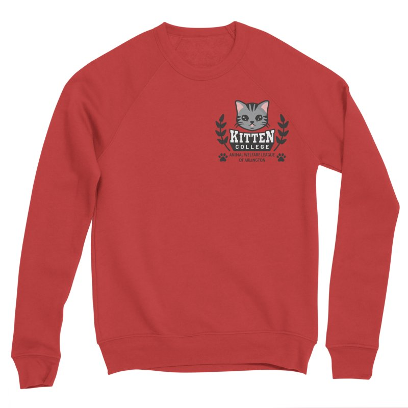 Kitten College - Small Logo & Accessories Women's Sponge Fleece Sweatshirt by Animal Welfare League of Arlington Shop