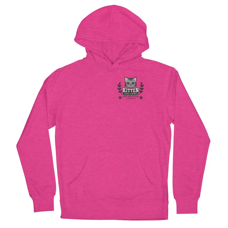 Kitten College - Small Logo & Accessories Men's French Terry Pullover Hoody by Animal Welfare League of Arlington Shop