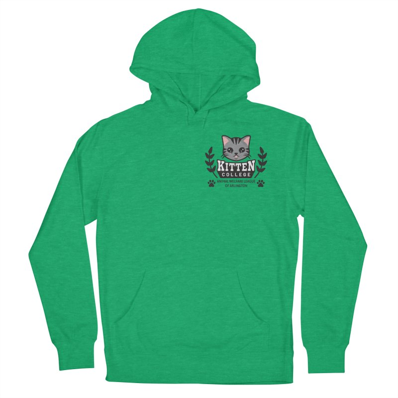 Kitten College - Small Logo & Accessories Women's French Terry Pullover Hoody by Animal Welfare League of Arlington Shop