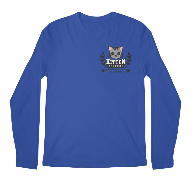 Kitten College - Small Logo & Accessories Men's Regular Longsleeve T-Shirt by Animal Welfare League of Arlington Shop