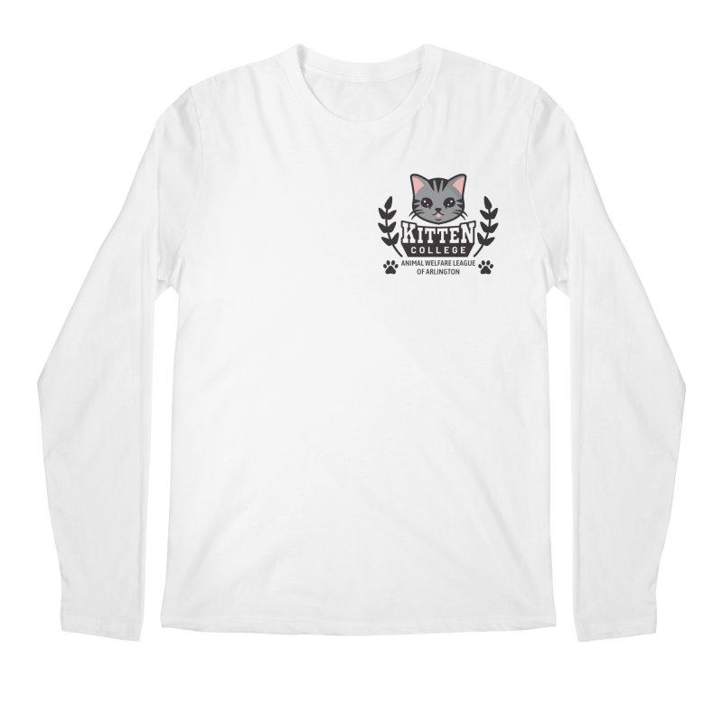 Kitten College - Small Logo & Accessories Men's Regular Longsleeve T-Shirt by Animal Welfare League of Arlington Shop