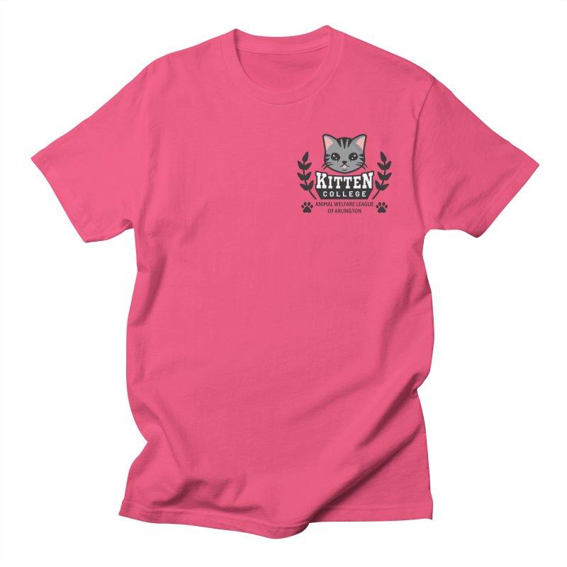 Kitten College - Small Logo & Accessories Men's T-Shirt by Animal Welfare League of Arlington Shop