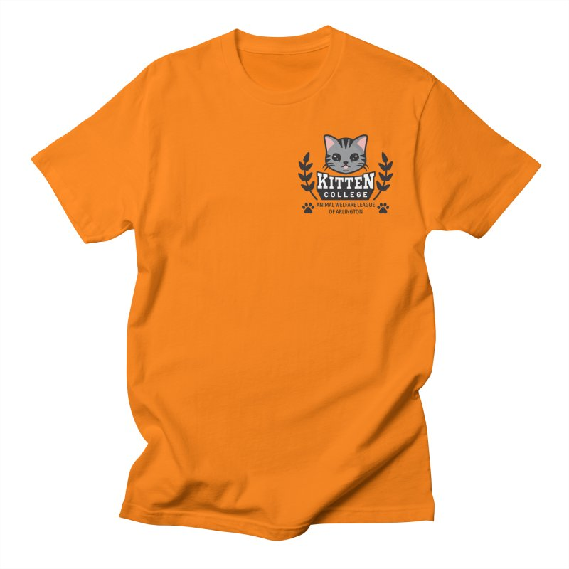 Kitten College - Small Logo & Accessories Men's T-Shirt by Animal Welfare League of Arlington Shop