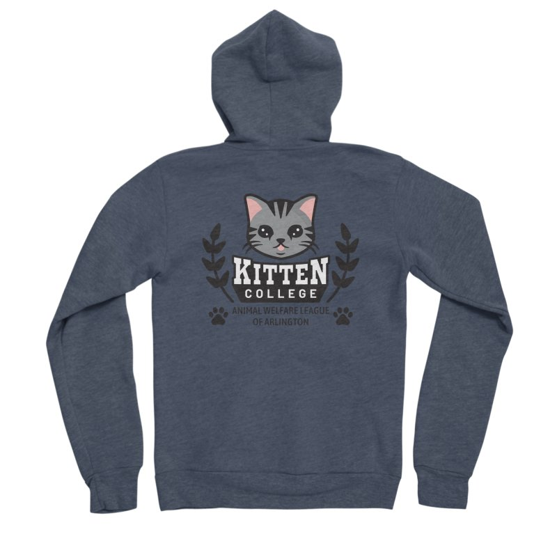 Kitten College - Large Logo Men's Sponge Fleece Zip-Up Hoody by Animal Welfare League of Arlington Shop