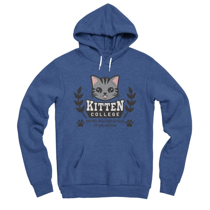 Kitten College - Large Logo Women's Sponge Fleece Pullover Hoody by Animal Welfare League of Arlington Shop