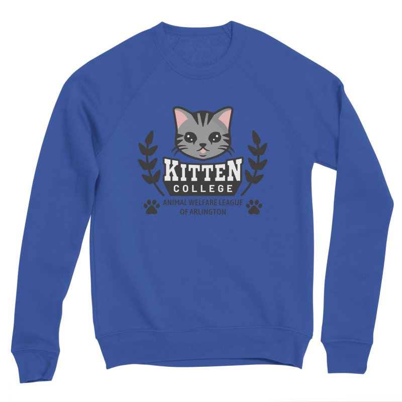 Kitten College - Large Logo Men's Sponge Fleece Sweatshirt by Animal Welfare League of Arlington Shop