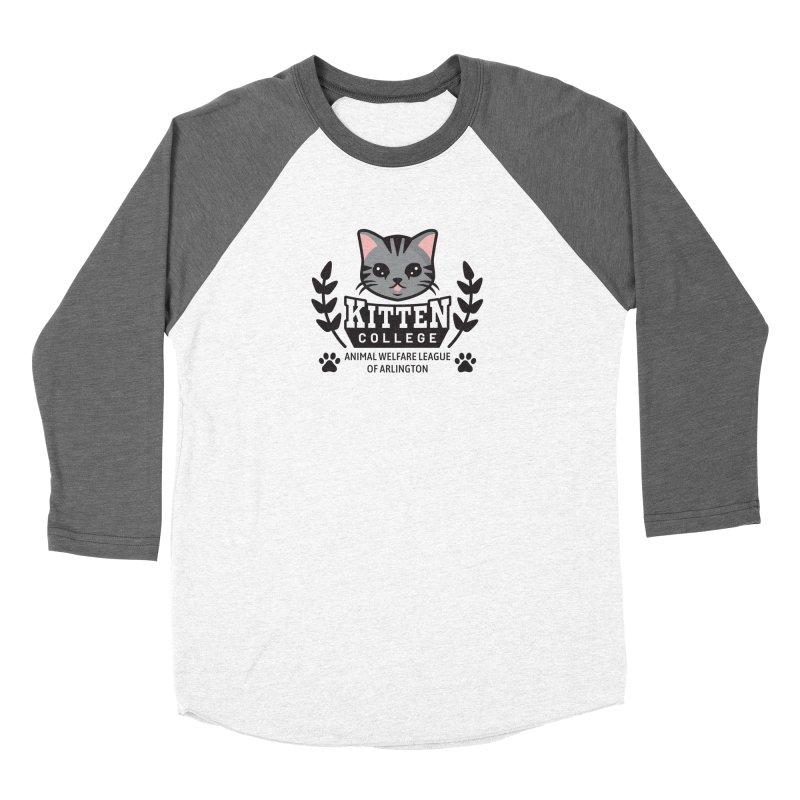 Kitten College - Large Logo Men's Baseball Triblend Longsleeve T-Shirt by Animal Welfare League of Arlington Shop